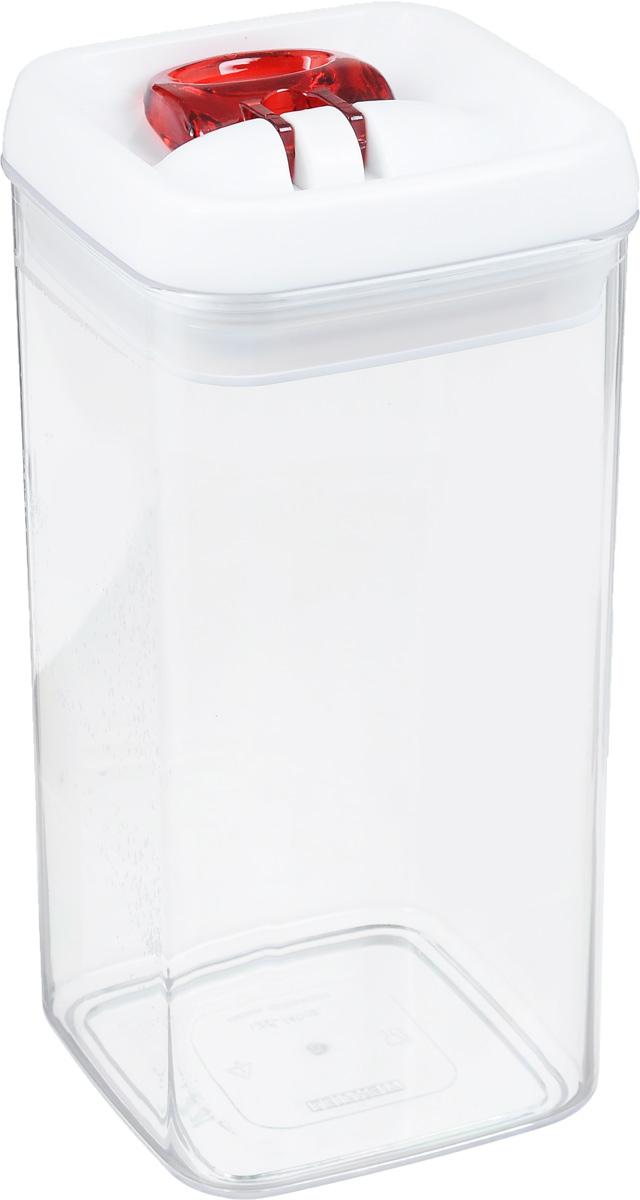 Контейнер для сыпучих продуктов Leifheit Fresh&Easy, 1,2 л31210Контейнер Leifheit Fresh&Easy, изготовленный из прочного пластика, предназначен для хранения сыпучих продуктов, например, макаронных изделий, орехов. Имеет воздухонепроницаемый и водонепроницаемый запор для оптимального хранения ваших сухих продуктов. Крышка открывается одной рукой.Емкость контейнера (без крышки) можно мыть в посудомоечной машине.Размер контейнера (с учетом крышки): 20 х 10 х 10 см.