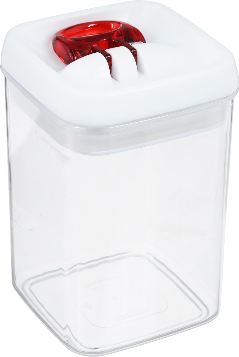 Контейнер для сыпучих продуктов Leifheit Fresh&Easy, 0,8 л31208Контейнер Leifheit Fresh&Easy, изготовленный из прочного пластика, предназначен для хранения сыпучих продуктов, например, макаронных изделий, орехов. Имеет воздухонепроницаемый и водонепроницаемый запор для оптимального хранения ваших сухих продуктов. Крышка открывается одной рукой.Емкость контейнера (без крышки) можно мыть в посудомоечной машине.Размер контейнера (с учетом крышки): 15 х 9 х 9 см.