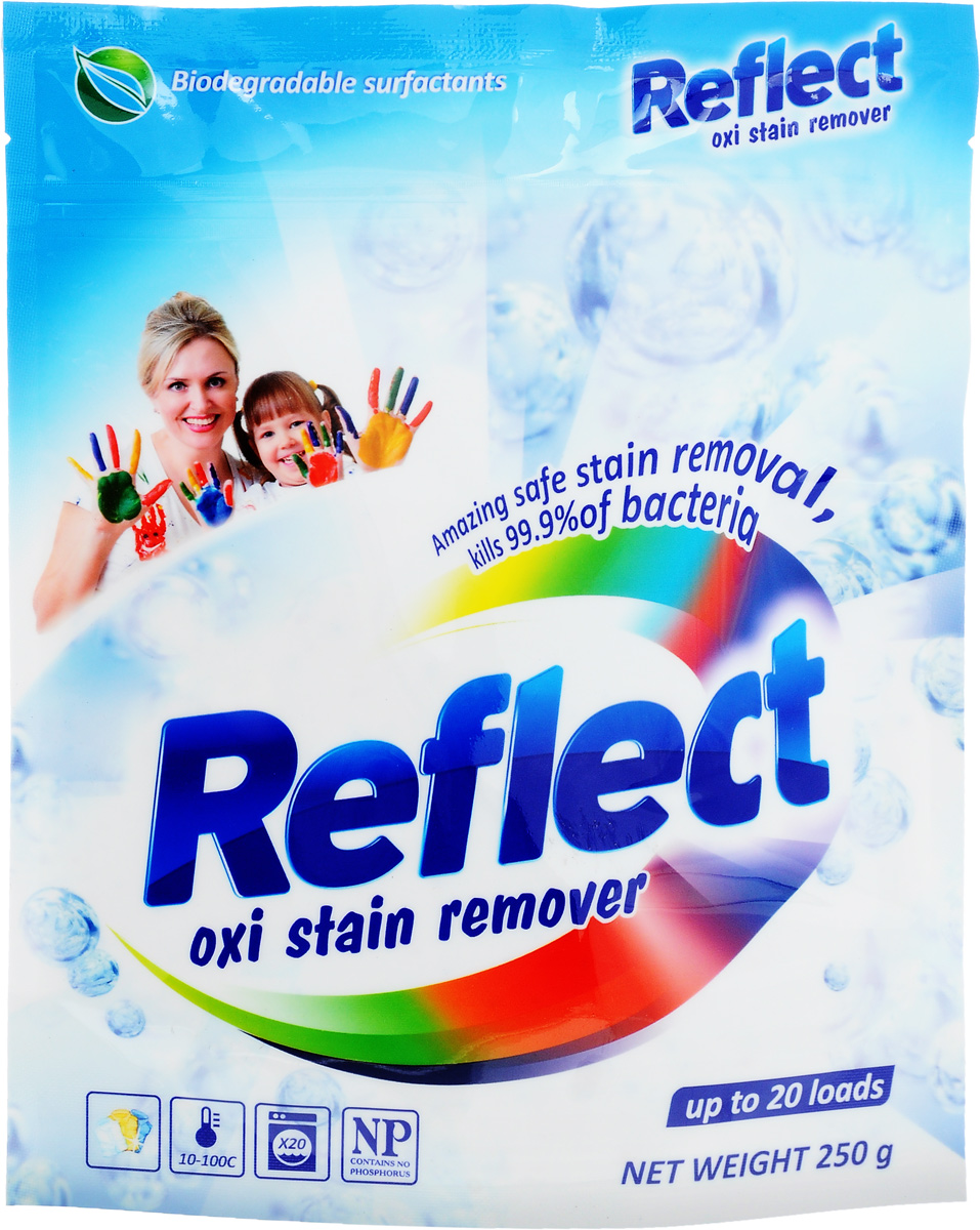 Пятновыводитель Reflect Oxi Stain Remover, порошкообразный, кислородный, 250 г пятновыводитель для цветного белья lotta oxi кислородный 750 г