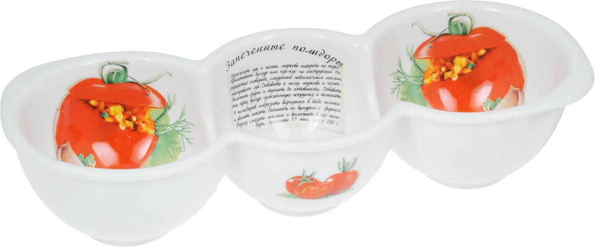 Форма для запекания LarangE Запеченные помидоры, 26 х 10 х 5,8 см598-091Форма для запекания LarangE Запеченные помидоры изготовлена из жаропрочной керамики, покрытой глазурью. Керамическая посуда обладает уникальными свойствами. Она обеспечивает быстрый нагрев и долгое сохранение температуры. Эти качества позволяют придать особый аромат продуктам, сохранить витамины и микроэлементы, которые часто разрушаются при нагревании. Кроме этого, керамическая посуда не выделяет химических примесей в процессе приготовления, что, безусловно, положительно скажется на вашем здоровье и самочувствии. Предназначена для запекания перца, помидор и многого другого. В комплект входит брошюра с рецептами.Допускается использование в микроволновой печи, духовке и холодильнике. Размер формы (по верхнему краю): 26 х 10 см. Высота стенки: 5,8 см.