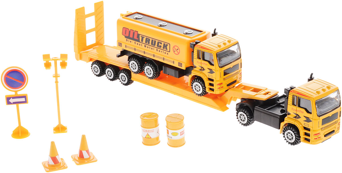 Junfa Toys Автовоз инерционный с бензовозом полуприцеп маз 975800 3010 2012 г в