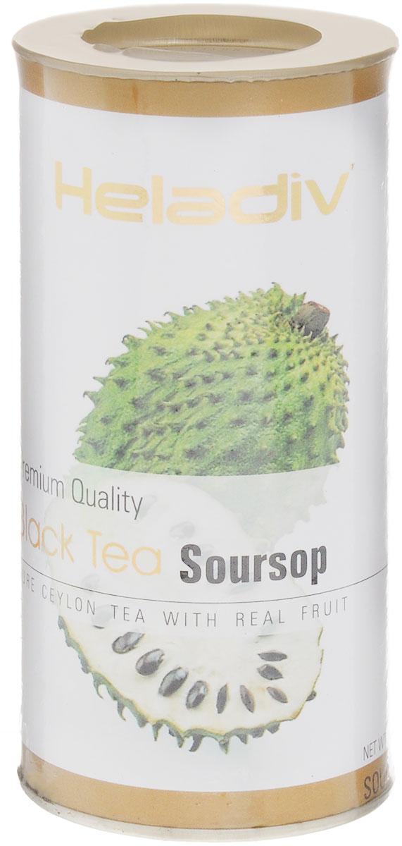 Heladiv Black Soursop чай черный листовой с саусепом, 100 г чай heladiv hd round p t blueberry 100 gr черный heladiv