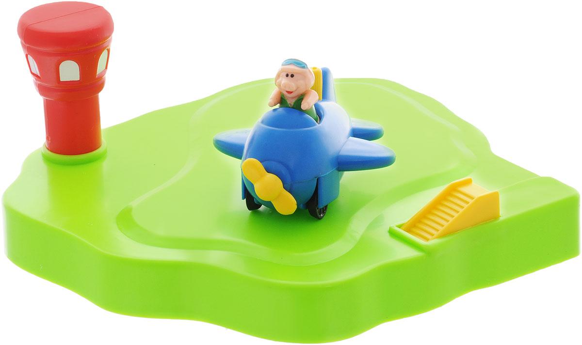 Жирафики Игрушка для ванной Аэродром цвет самолета синий игрушка жирафики аэродром 681123
