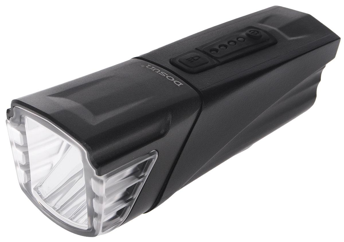 Фара велосипедная Dosun AF500, с зарядкой от USBAF500Надежная и удобная в эксплуатации фара Dosun AF500 предназначена для обеспечения большей безопасности при поездках в темное время суток. Заряжается от компьютера при помощи USB кабеля (входит в комплект). Оснащена ярким светодиодом мощностью 500 Лм. Устанавливается на основание диаметром 25,4-31,8 мм. Имеет прочный водонепроницаемый корпус, устойчивый к царапинам. Удобная конструкция фары позволяет быстро устанавливать ее на руль или снимать. Изделие имеет функцию Power Bank. Фара работает в 4 режимах: 3 вида яркости, мигание.Время свечения в разных яркостях: 2 ч, 4 ч, 8 ч.Время мигания: 120 ч.Время зарядки: 6 ч.Емкость аккумулятора: 2500 мАч.Размер фары (без учета крепления): 11,5 х 4,5 х 4,5 см.