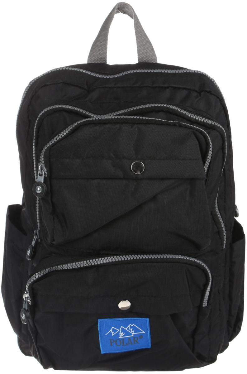Рюкзак городской Polar, 16 л, цвет: черный. П6009-05 рюкзак городской polar цвет бордовый 16 л п7074 14