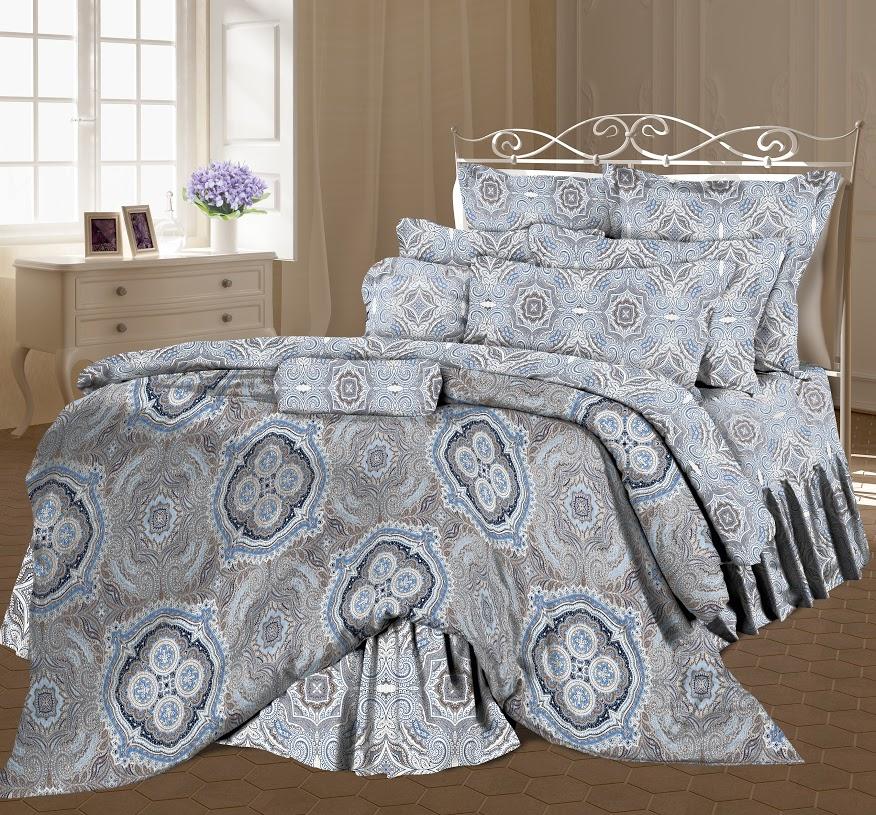 Комплект белья Романтика Валери, евро, наволочки 70x70, цвет: серый318754