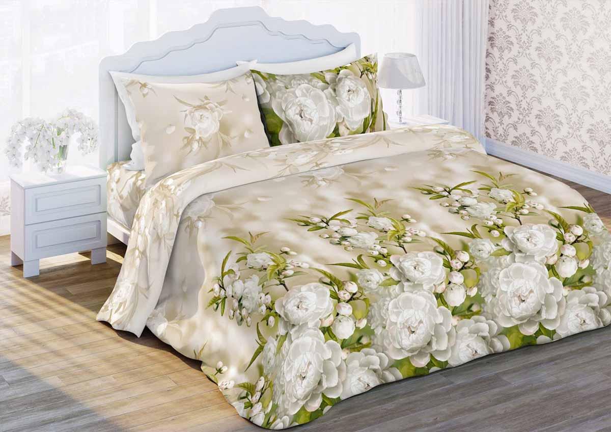 Комплект белья Любимый дом Яблоневый цвет, 2-спальный, наволочки 70x70, цвет: бежевый323878Комплект постельного белья Любимый дом Яблоневый цвет состоит из пододеяльника, простыни, 2 наволочек. Комплект выполнен из высококачественной ткани - из 100% хлопка. Такое белье абсолютно натуральное, гипоаллергенное, соответствует строжайшим экологическим нормам безопасности, комфортное, дышащее, не нарушает естественные процессы терморегуляции, прочное, не линяет, не деформируется и не теряет своих красок даже после многочисленных стирок, а также отличается хорошей износостойкостью.