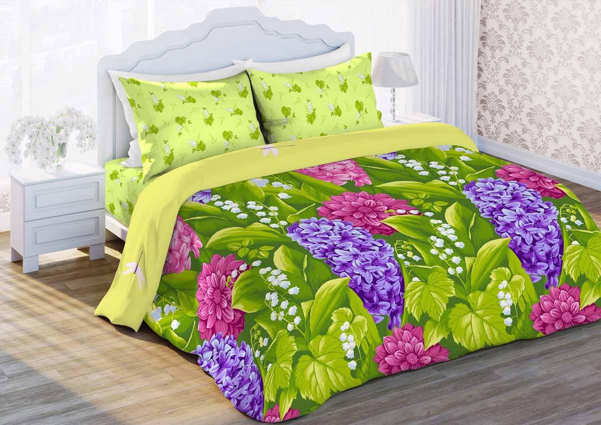 Комплект белья Любимый дом Гиацинт, 1,5-спальный, наволочки 70x70343250Комплект постельного белья коллекции Любимый дом выполнен из высококачественной ткани - из 100% хлопка. Такое белье абсолютно натуральное, гипоаллергенное, соответствует строжайшим экологическим нормам безопасности, комфортное, дышащее, не нарушает естественные процессы терморегуляции, прочное, не линяет, не деформируется и не теряет своих красок даже после многочисленных стирок, а также отличается хорошей износостойкостью.