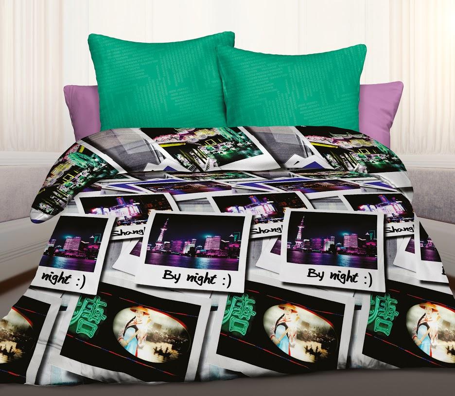Комплект белья Unison Shanghai, 1,5-спальный, наволочки 70x70, цвет: черный352865