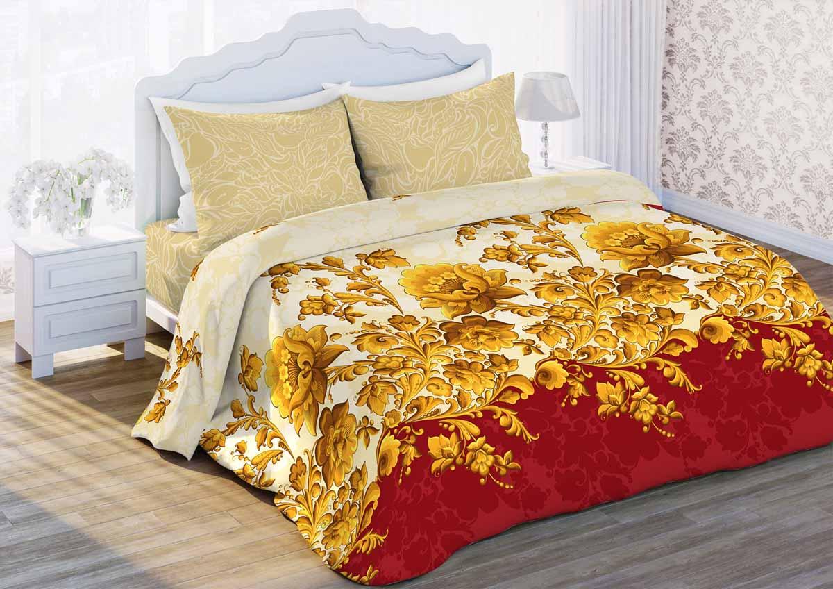 Комплект белья Любимый дом Русский узор, 1,5-спальный, наволочки 70x70, цвет: бежевый362965Комплект постельного белья коллекции Любимый дом выполнен из высококачественной ткани - из 100% хлопка. Такое белье абсолютно натуральное, гипоаллергенное, соответствует строжайшим экологическим нормам безопасности, комфортное, дышащее, не нарушает естественные процессы терморегуляции, прочное, не линяет, не деформируется и не теряет своих красок даже после многочисленных стирок, а также отличается хорошей износостойкостью.
