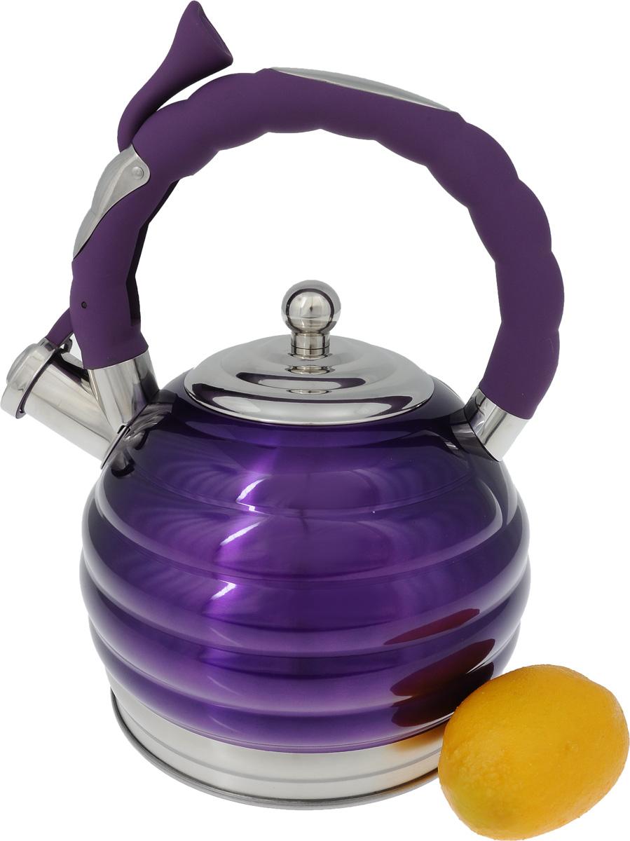 """Чайник """"Mayer & Boch"""", со свистком, цвет фиолетовый, 3 л. 24967"""