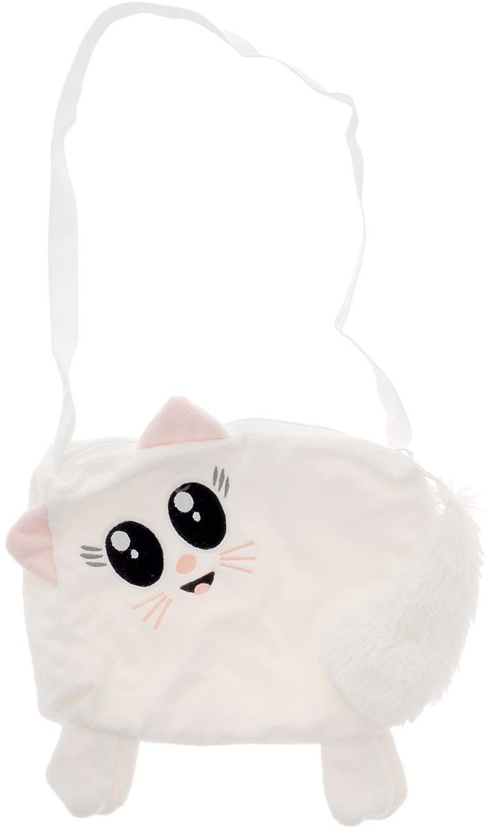 Fancy Сумка детская КошкаSM01Детская сумка Fancy Кошка обязательно понравится каждой маленькой моднице. Сумочка выполнена в виде кошечки и декорирована ушками, лапками и милой мордочкой с черными вышитыми глазками. Сумка молочного цвета изготовлена из мягкого ворсового трикотажа. Сумка имеет одно отделение, которое закрывается на пластиковую молнию с металлическим бегунком. Бегунок дополнен длинным пушистым хвостиком. Сумка имеет длинную лямку для ношения на плече. Порадуйте свою малышку таким замечательным подарком!