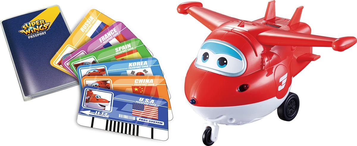 Super Wings Интерактивная игрушка Джетт вертолеты и самолеты super wings самолет джетт с пластиковыми карточками разных стран