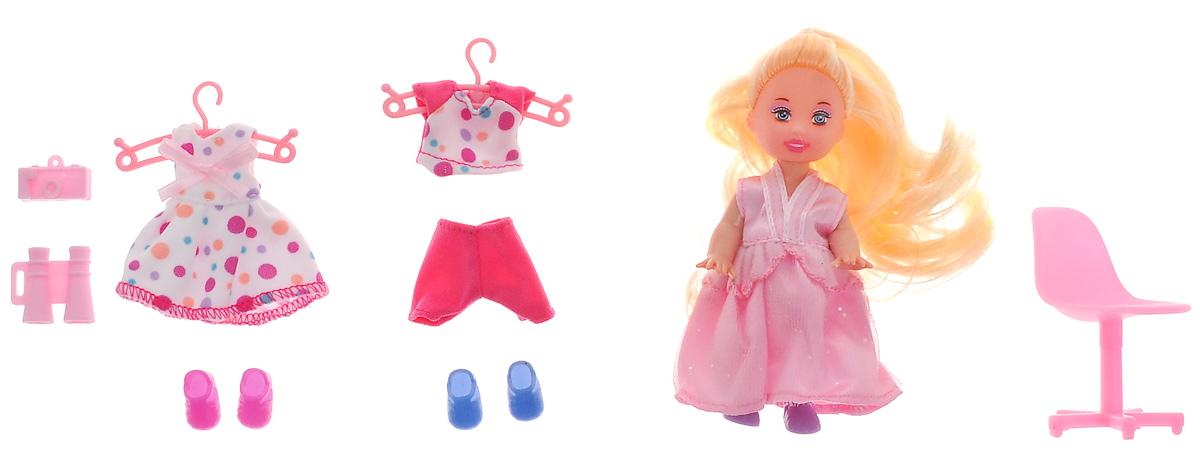 Defa Игровой набор с мини-куклой Happy Sairy Style цвет розовый белый кукла defa lucy невеста 8341