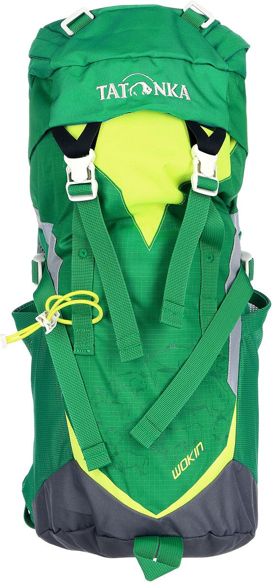 Рюкзак детский Tatonka Wokin, цвет: зеленый, 11 л1824.404Трекинговый рюкзак для юных путешественников c 6 лет. Смягченная несущая система рюкзака приспособлена к телосложению ребенка, а спортивный дизайн делает его взрослым