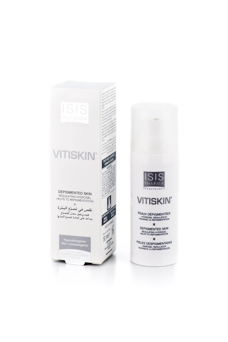 Isispharma Гидрогель VITISKIN 50 мл9657VITISKIN восстанавливает метаболизм клеток кожи, благодаря антиоксидантам, элементам, позволяющим бороться со свободными радикалами, и противовоспалительным компонентам:1. Супероксиддисмутаза Dismutin-BT: защита от свободных радикалов и противовоспалительное действие, замедление липидного пероксидирования2. Медь и цинк: Ко-фактор тирозиназы (Cu), защита от окислительных повреждений3. Витамин B12: участвует в синтезе меланина, незаменим в метаболизме4. Пантотенат Кальция: витамин, участвующий в синтезе меланина, необходимый для усвоения меди