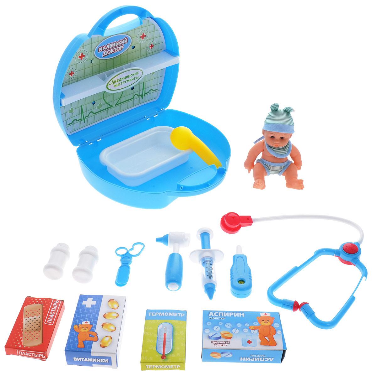 ABtoys Игровой набор Маленький доктор 16 предметов