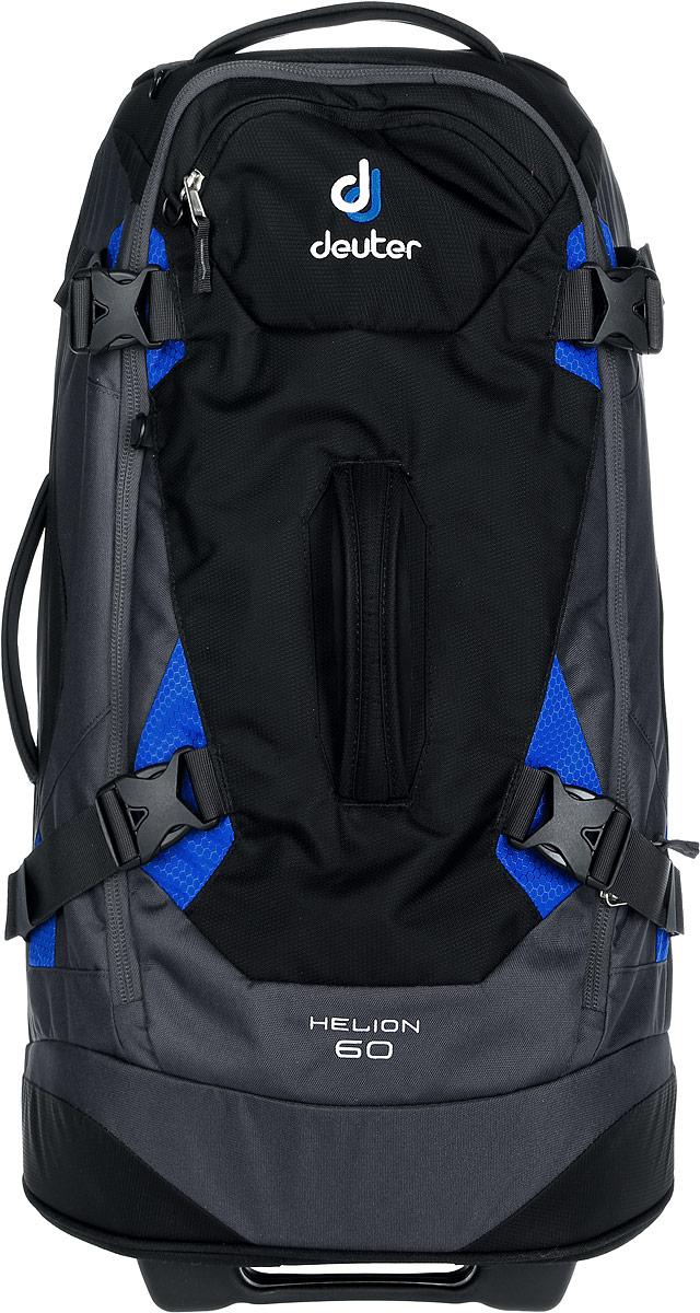 Сумка дорожная на колесах Deuter 2015 Travel Helion 60, цвет: черный, 60л