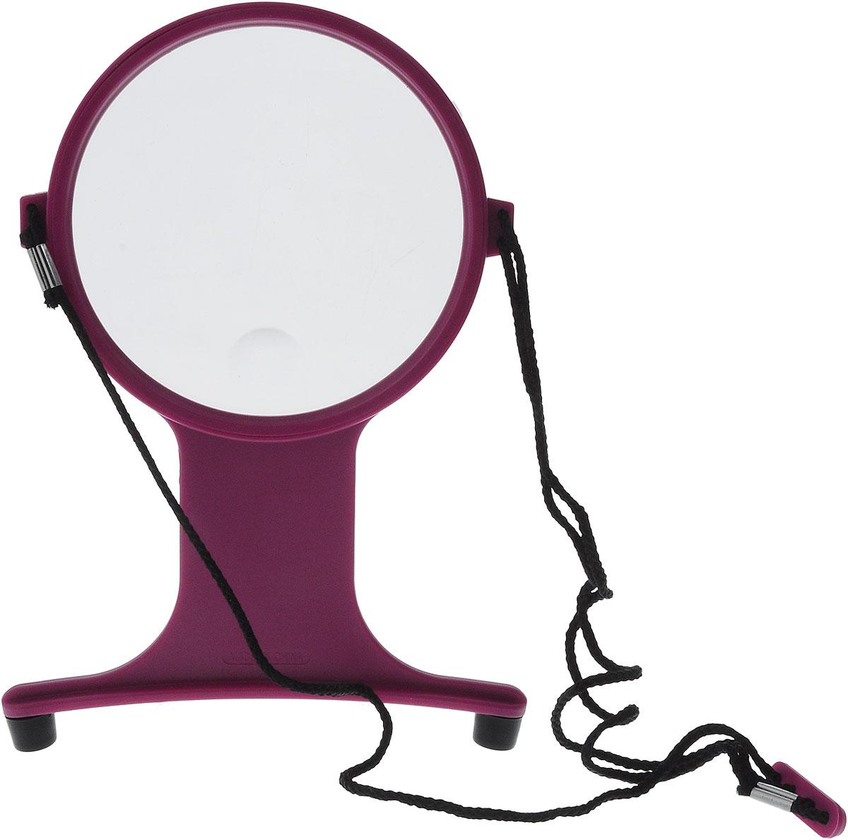 Лупа для вышивания Hemline, цвет: пурпурный, прозрачный лупа для рукоделия hemline хендс фри с подсветкой