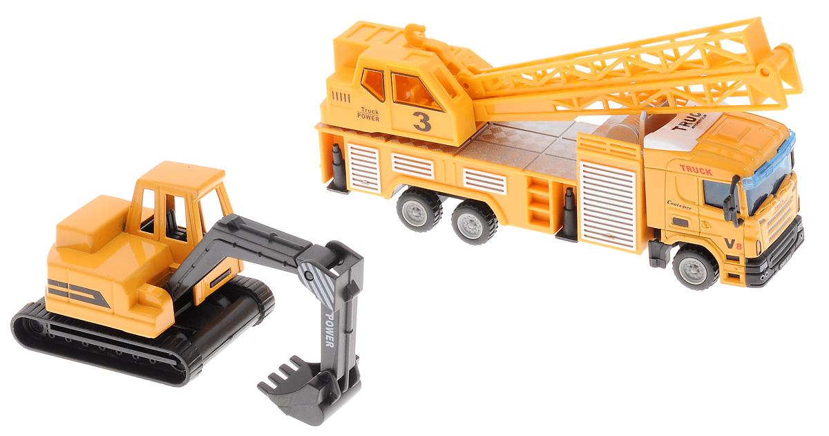 Junfa Toys Кран и экскаватор