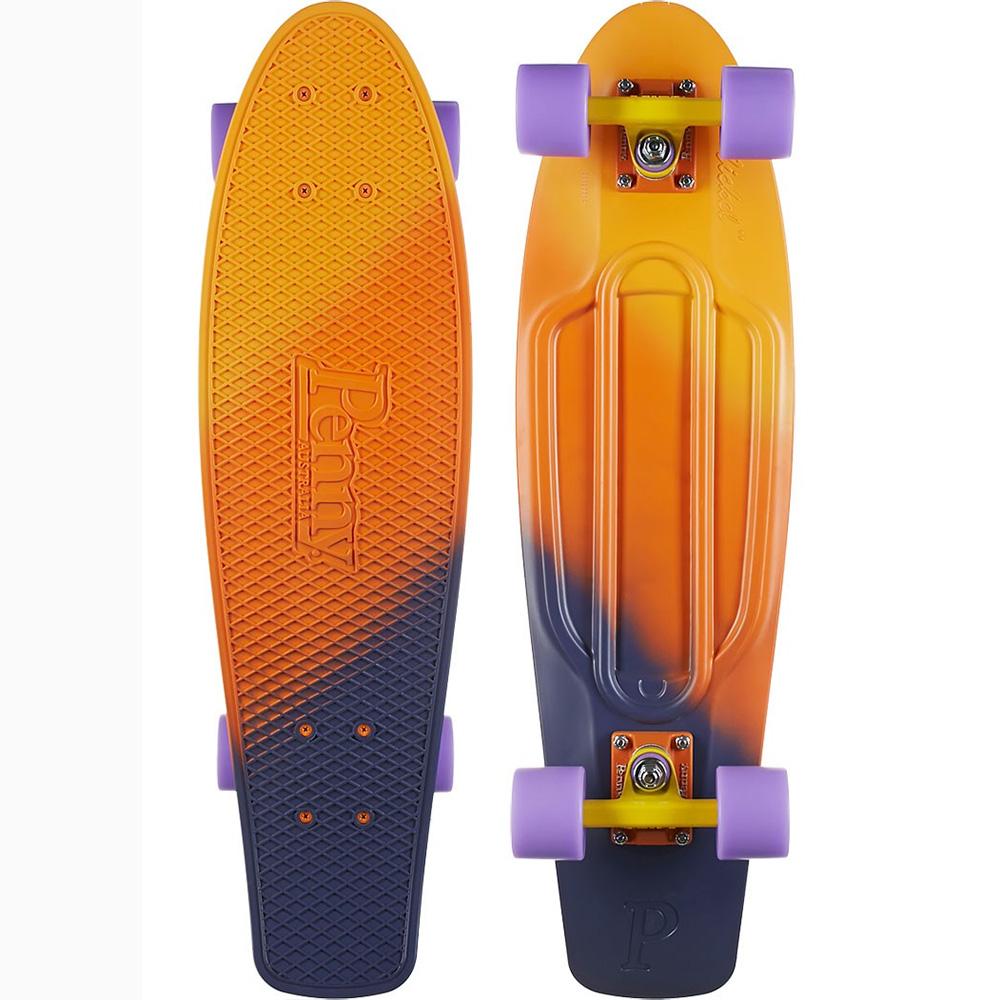 Пенни борд Penny Nickel, цвет: оранжевый, фиолетовый, дека 69 х 19 см пенни борд penny nickel цвет slater дека 27