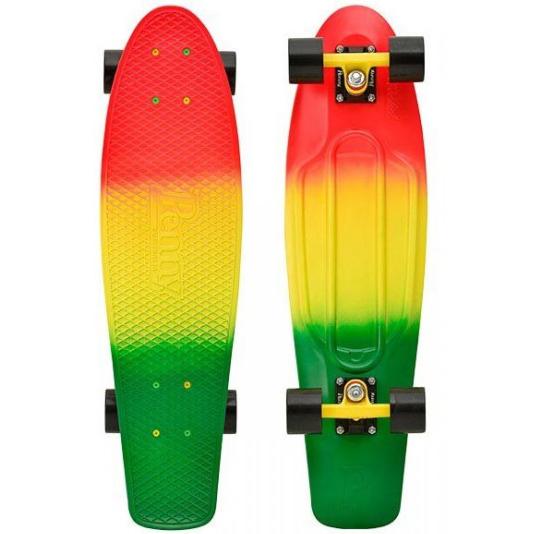 Пенни борд Penny Nickel, цвет: лимонный, зеленый, оранжево-красный, дека 69 х 19 см пенни борд фото для девочек