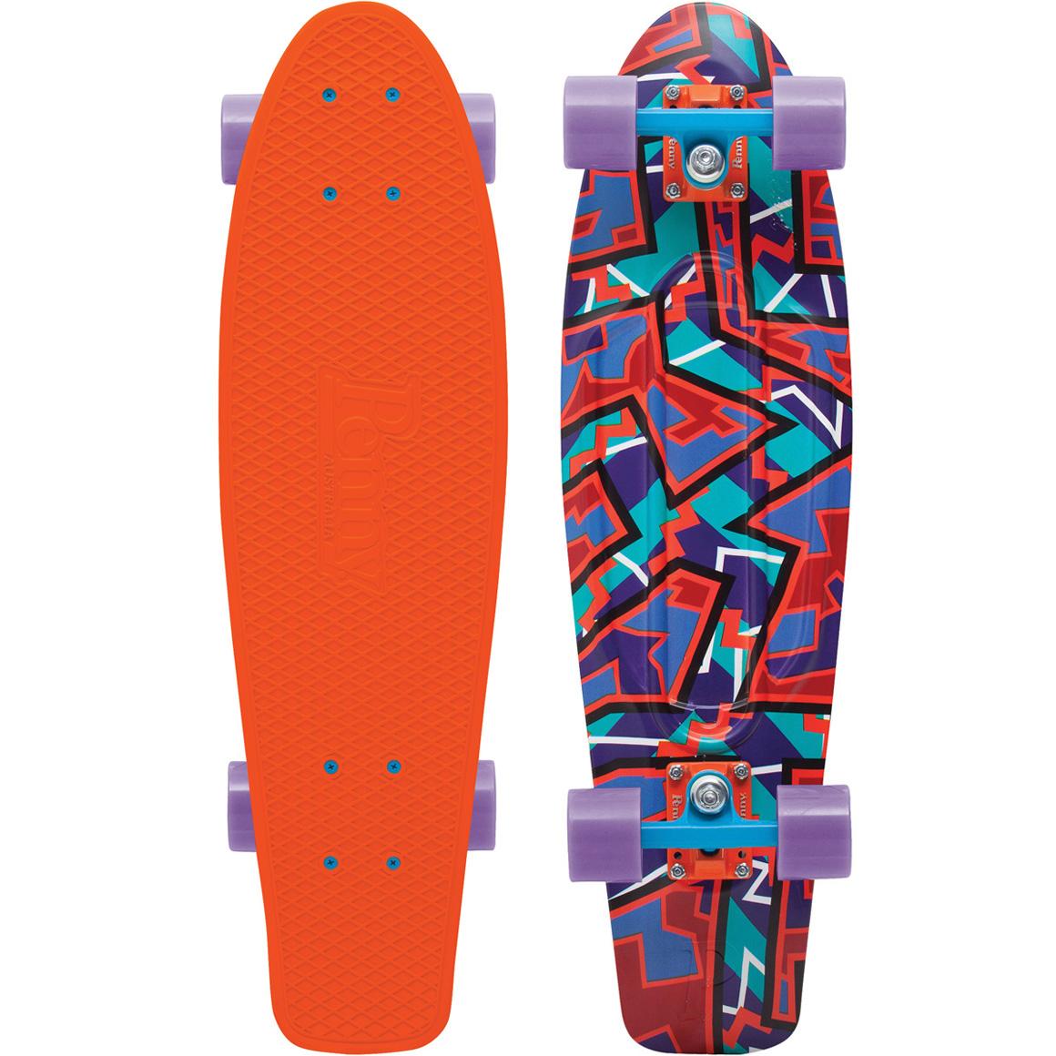 Пенни борд Penny Nickel, цвет: оранжевый, фиолетовый, черный, дека 69 х 19 см пенни борд фото для девочек