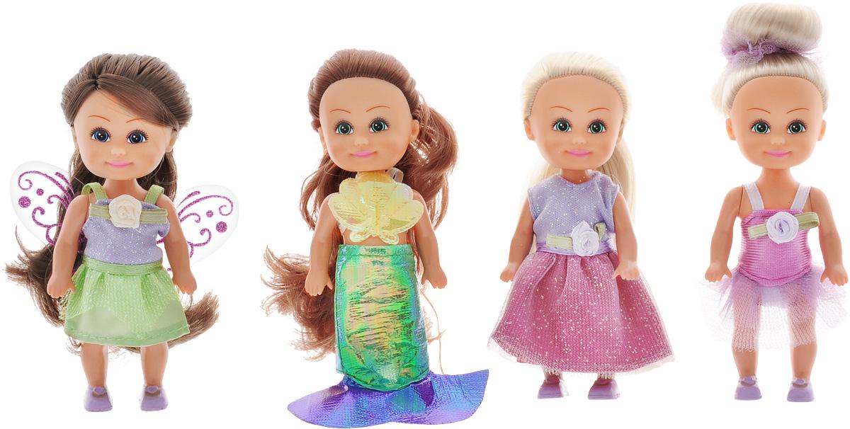 цена на Funville Набор мини-кукол Маленькие друзья 4 шт