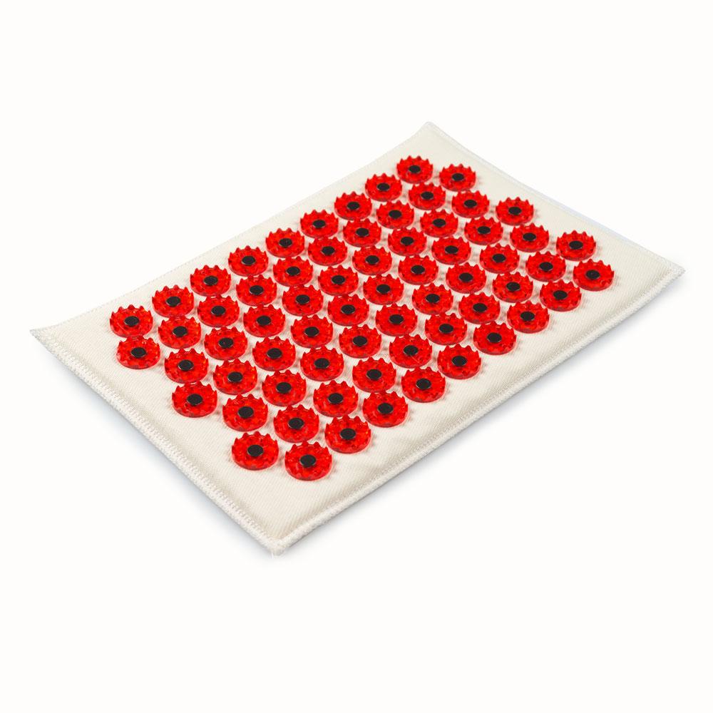 Массажер-аппликатор Тибетский на мягкой подложке, для чувствительной кожи, магнитный, цвет: красный, 17х28 смФР-00000858Массажер-иппликатор Тибетский на мягкой подложке, для чувствительной кожи, магнитный, цвет: красный, 17х28 см