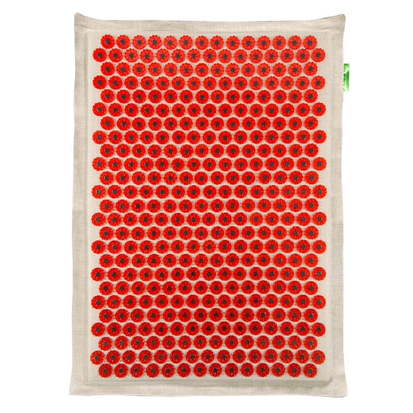Массажер-аппликатор Тибетский на мягкой подложке, для чувствительной кожи, магнитный, цвет: красный, 41х60 см00-00000659Массажер-иппликатор Тибетский на мягкой подложке, для чувствительной кожи, магнитный, цвет: красный, 41х60 см