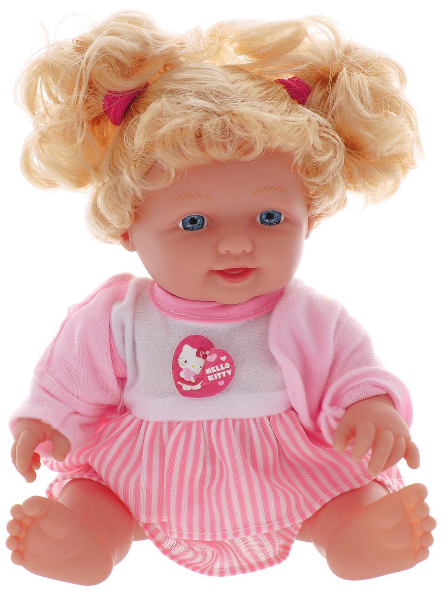 Карапуз Пупс озвученный Нello Кitty в полосатой юбке цвет розовый белый