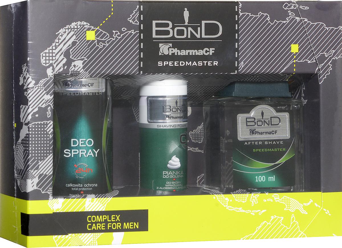 Bond Мужской Подарочный Набор Speedmaster (дезодорант DEO 150 ML + лосьен после бритья AS 100 ML+ пена для бритья PDG 50 ML)