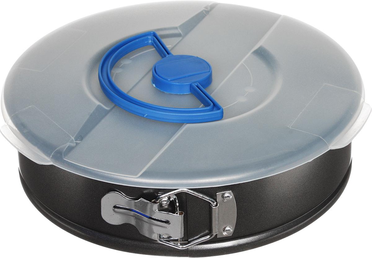 Форма для запекания Regent Inox Easy, с антипригарным покрытием, с крышкой, разъемная, диаметр 26 см93-CS-EA-5-16Круглая форма для выпечки Regent Inox Easy выполнена из высококачественной углеродистой стали с антипригарным покрытием, что обеспечивает форме прочность и долговечность. Имеет разъемный механизм. Дно у формы съемное.Форма равномерно и быстро прогревается, что способствует лучшему пропеканию пищи. Данную форму легко чистить. Готовая выпечка без труда извлекается из формы. Форма подходит для использования в духовке с максимальной температурой 250°С.В комплекте пластиковая крышка, которая позволит сохранить тепло и аромат блюда, надежно крепится на бортике формы.Перед каждым использованием форму необходимо смазать небольшим количеством масла. Чтобы избежать повреждений антипригарного покрытия, не используйте металлические или острые кухонные принадлежности. Подходит для использования в духовом шкафу. Можно мыть в посудомоечной машине.Высота формы: 7 см.