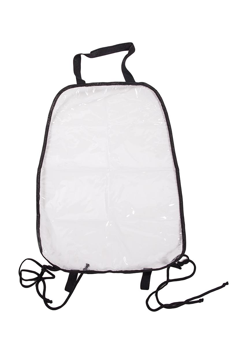 Накидка защитная на спинку переднего сиденья AvtoTink, ПВХ, 34 х 55 см72002Накидка защитная на спинку переднего сиденья AvtoTink изготовлена из высокопрочного прозрачного 100% поливинилхлорида (ПВХ). Накидка защищает спинку переднего сиденья от грязной детской обуви, быстро и легко крепится за направляющие подголовника с помощью липучки-велкро и веревками за основание сиденья.Подходит для всех типов сидений.