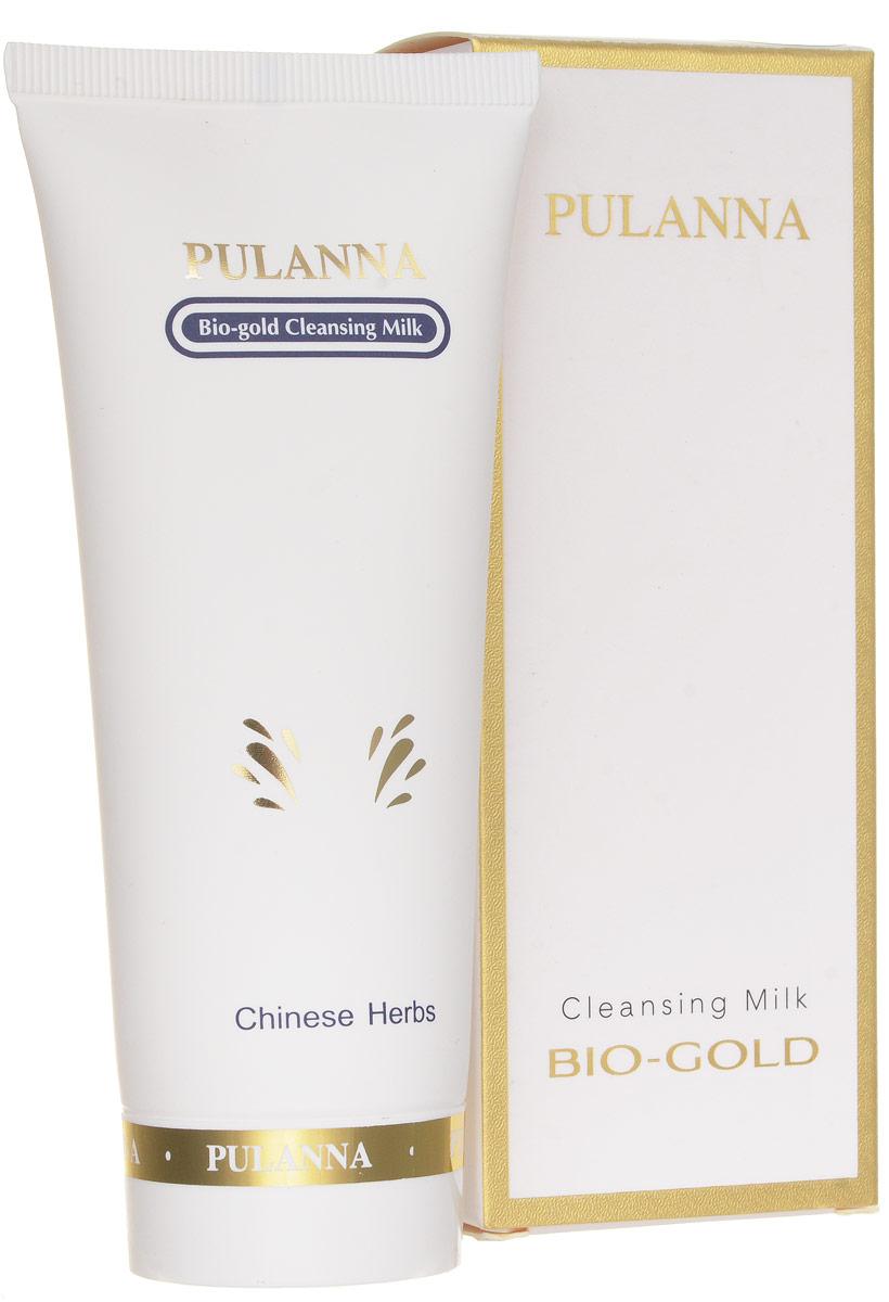 Pulanna Очищающее молочко с золотом на основе био-золота - Bio-gold Milk 90 г молочко pulanna очищающее молочко phytosilver cleansing milk 90г