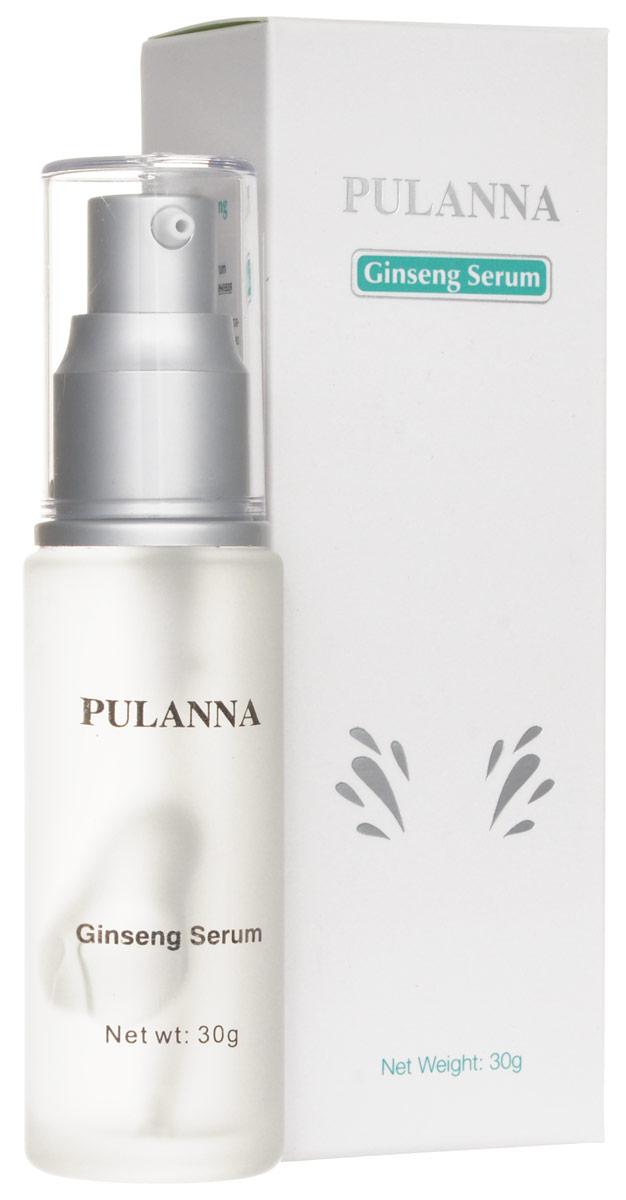 Pulanna Высокоактивная женьшеневая сыворотка на основе женьшеня - Ginseng Serum 30 г5902596005115Благодаря наличию высокой концентрации действующих веществ во много раз усиливаются защитные функции кожи, процессы регенерации. Нормализуется гидро-липидный баланс. Сывортка обладает антиоксидантным действием. Кожа насыщается необходимыми витаминами, микроэлементами и влагой. Средство препятствует возникновению морщин, заломов и мимических линий и борется с уже существующими. Активно смягчает, тонизирует, повышает эластичность кожи. Сыворотка особенно эффективна для усталой, атоничной кожи. За счет высокой концентрации женьшеня усиливается сопротивляемость кожи к неблагоприятному воздействию окружающей среды, стимулируется регенерация кожи. Средство укрепляет овал лица, интенсивно подтягивает кожу. Рекомендуется с целью активного восстановления курсом 2 недели два раза в год. С 45 лет курсом на 1 месяц, 3-4 раза в год. Для лица, шеи и области декольте. Для всех типов кожи с 40 - 45 лет.