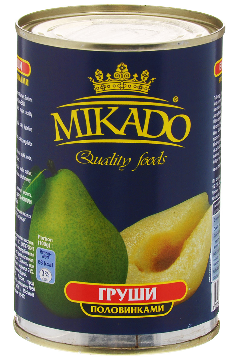 Mikado груши половинками в сиропе, 425 мл mikado cat territory boatquest 225