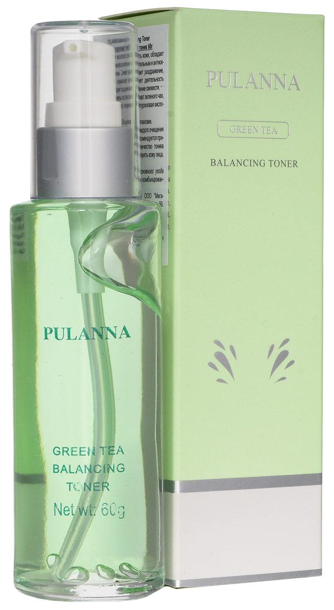 Pulanna PH-балансирующий тоник на основе зеленого чая - Balancing Toner 60 г тоники pulanna увлажняющий тоник bio gold & grape moisturizing toner 60г