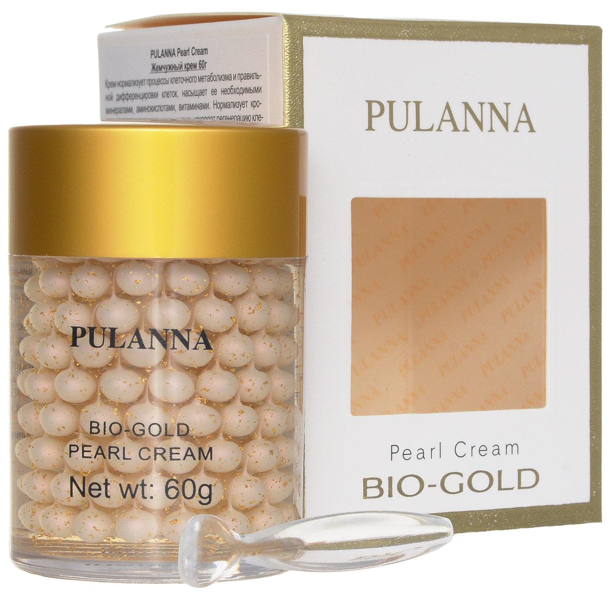 Pulanna Жемчужный крем на основе био-золота - Pearl Cream 60 г жемчужный крем pulanna жемчужный крем