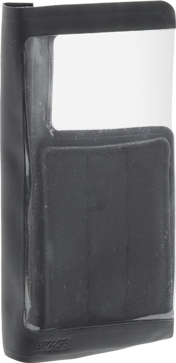 Чехол для смартфона на руль BiKase DriKase, водонепроницаемый, 16 х 8 х 3 смAG017Водонепроницаемый чехол BiKase DriKase сохраняет телефон сухим во время дождя. Устанавливается на руль велосипедов при помощи съемного ремня на липучке. Изделие закрывается на липучку и оснащено прозрачной вставкой из ПВХ. Чехол подходит для большинства моделей телефонов.Размер чехла (с учетом крепления): 16 х 8 х 3 см. размер чехла (без учета крепления): 16 х 16 х 1 см.