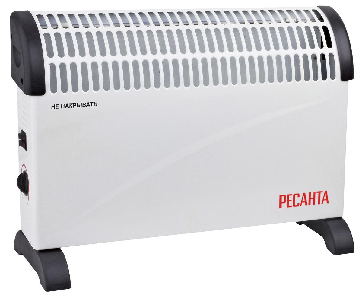 Ресанта ОК-1500С (стич) конвектор67/4/7Конвектор Ресанта ОК-1500С. Отличием данной серии конвекторов от остальных серий является вид используемого нагревательного элемента (СТИЧ). СТИЧ - это игольчатый нагревательный элемент, который позволяет практически мгновенно достигать заданных температур. При аналогичной мощности СТИЧ элемент меньше и легче ТЭНа, поэтому преимущества данной серии компактный размер и меньший вес.Холодный воздух, находящийся в нижней части комнаты на уровне ног, проходит через нагревательный элемент конвектора. Увеличиваясь в объеме в момент нагрева, теплый поток устремляется вверх через жалюзи выходной решетки и плавно распространяется по комнате. При этом направление потока, заданное наклоном жалюзи, создает благоприятную, ускоренную циркуляцию теплого воздуха внутри помещения, не рассредоточивая его на стены и окна.Как выбрать обогреватель. Статья OZON Гид