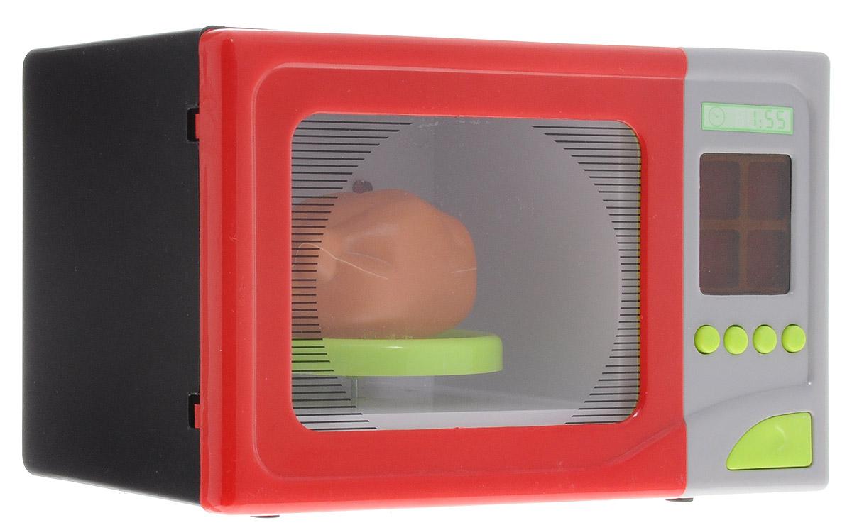 ABtoys Микроволновая печь цвет красный черный серый