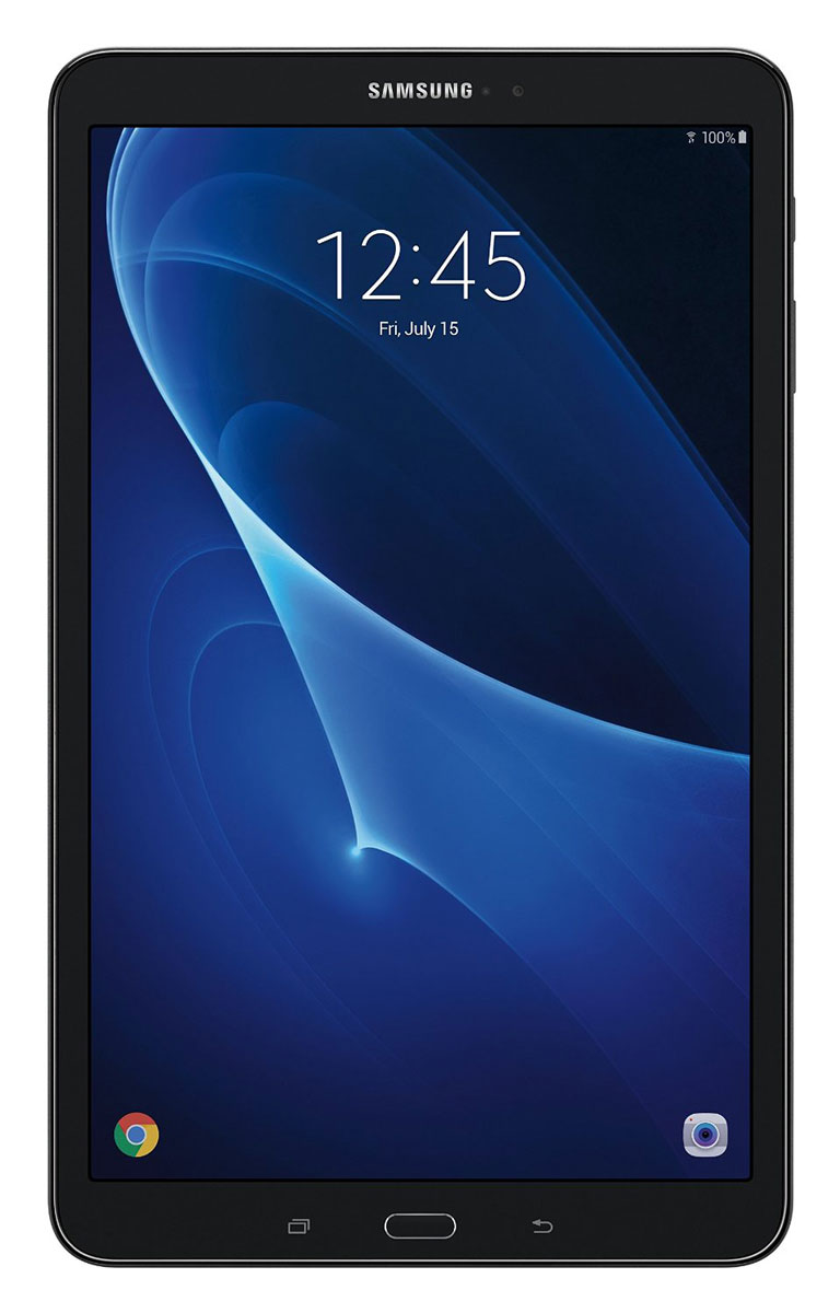 Samsung Galaxy Tab A 10.1 SM-T580, BlackSM-T580NZKASERПланшетный компьютер Samsung Galaxy Tab A 10.1 привлекает своей компактностью в сочетании с производительностью.В тонком корпусе с классическим дизайном уместилась достойная начинка: восьмиядерный процессор Samsung Exynos 7 Octa 7870 с тактовой частотой 1,6 ГГц и 2 ГБ оперативной памяти. За качественное изображение отвечает яркий и сочный 10-дюймовый экран с разрешением 1920x1200.Удобный размер планшета позволяет использовать его с одинаковым комфортом и для чтения книг, и для интернет-серфинга, и для развлечений.Точная автофокусировка помогает основной камере 8 Мпикс справиться со съемкой движущихся предметов и получить четкий снимок. Фронтальная камера 2 Мпикс придет на помощь, если нужно сделать автопортрет.Данная модель одинаково подходит как для взрослых, так и для детей. Встроенный таймер ограничивает время, проведенное ребенком за планшетом, а разнообразный увлекательный и образовательный контент поможет малышу провести время с пользой.Встроенный аккумулятор 7300 мАч, подзаряжаемый через microUSB, по заявлению производителя способен обеспечить стабильную работу в течение дня, это примерно 10 часов.Планшет сертифицирован EAC и имеет русифицированный интерфейс, меню и Руководство пользователя.