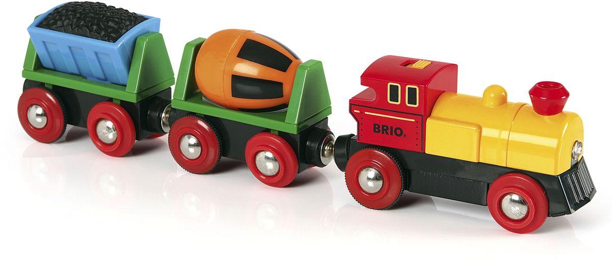 Brio Грузовой поезд с бетономешалкой и грузом
