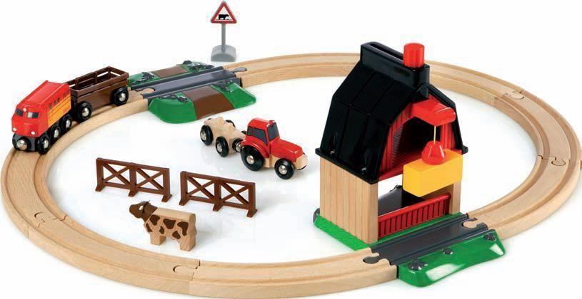 Brio Железная дорога с мини-фермой и кормушкой погрузчик с вращением с магнитом блист brio