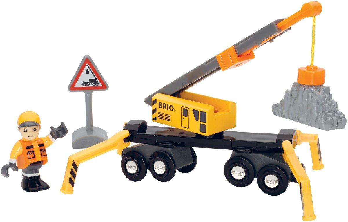 Brio Большой погрузочный кран brio локомотив и грузовые вагоны с животными