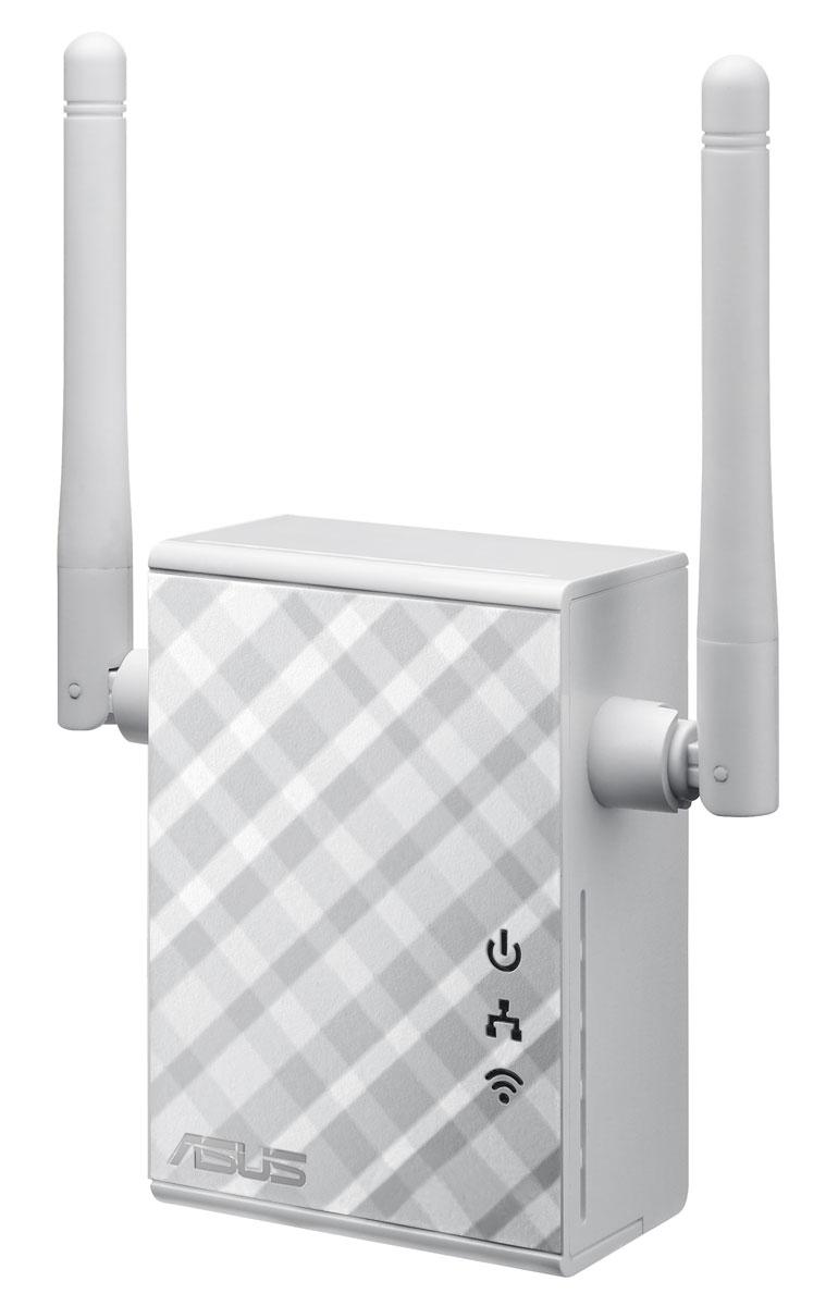 ASUS RP-N12 повторитель беспроводного сигналаRP-N12Повторитель Asus RP-N12 с мощными внешними антеннами MIMO предназначен для полноценного покрытия помещения качественной сетью Wi-Fi. Даже в самых удаленных комнатах вашего дома теперь будет доступна высокоскоростная сеть для подключения к интернету всего разнообразия цифровых устройств. Настройка Asus RP-N12 не требует установки драйверов и совершения каких-либо манипуляций с клавиатурой и мышкой. Вся процедура сводится к одному нажатию на кнопку WPS. Для более глубокой настройки параметров устройства его следует подключить к компьютеру с помощью Ethernet-кабеля и открыть в браузере его веб-интерфейс. Также имеется возможность настройки по беспроводной сети с планшета или смартфона.Asus RP-N12 следует размещать между маршрутизатором и той областью, на которую нужно расширить зону действия беспроводной сети. Наилучшая работа устройства обеспечивается при наличии сильного сигнала от маршрутизатора. Проверить это можно с помощью индикатора на передней панели.Asus RP-N12 поддерживает три режима работы. Помимо беспроводного повторителя, он может играть роль беспроводной точки доступа и сетевого моста. Достаточно подключить это устройство к проводной сети, и оно будет раздавать интернет для ноутбуков, смартфонов и других Wi-Fi-совместимых гаджетов. В режиме сетевого моста RP-N12 можно подключить к всевозможным Ethernet-совместимым устройствам, таким как умные телевизоры, мультимедийные плееры, игровые консоли и компьютеры, чтобы реализовать в них поддержку Wi-Fi.Благодаря функции Roaming Assist пользователю больше не придется вручную переключаться между соединениями Asus RP-N12 и основного маршрутизатора. После активации данной функции устройство будет автоматически подключаться к более мощному сигналу, что гарантирует стабильное соединение Wi-Fi в любой точке дома.