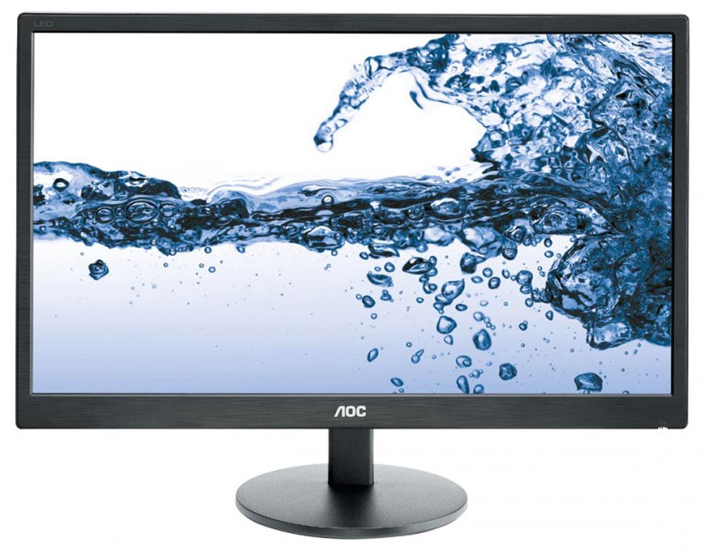 AOC E2270SWDN, Black мониторE2270SwdnМонитор AOC E2270SWDN с LED подсветкой является хорошим вариантом для стандартных офисных и домашних приложений. Представленная в элегантном корпусе черного цвета с шероховатой фактурой, эта широкоформатная модель с регулировкой угла наклона оснащена TN-панелью с временем отклика 5 мс, что обеспечивает четкое изображение без размытия. Интеллектуальные программы, такие как Screen+ и i-Menu, повышают удобство работы и помогают снижать энергопотребление. Экологически безопасная модель соответствует строгим требованиям сертификатов защиты окружающей среды Energy Star 6.0 и EPEAT Silver, и поддерживает использование настенных креплений VESA и кенсингтонских замков. Откройте для себя все преимущества монитора AOC E2270SWDN!