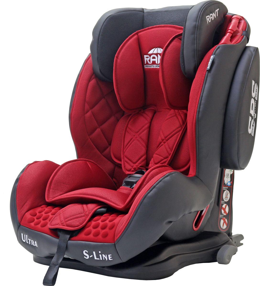 Rant Автокресло Ultra Isofix цвет красный от 9 до 36 кг