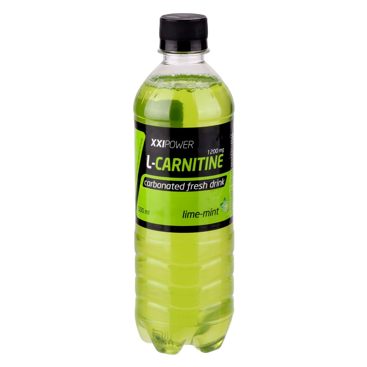 Напиток ХХI Power L-Carnitine, слабогазированный, лайм-мята, 0,5 л xxi power энергетический напиток xxi power гуарана 500мл